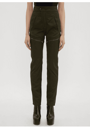 Atlein Zipped Panel Combat Pants in Green size FR - 36