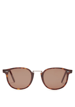 Cutler And Gross - Oval Frame Sunglasses - Mens - Brown