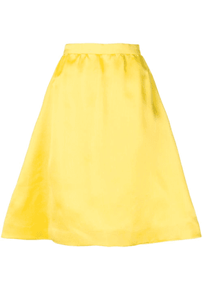 Balenciaga Vintage flared A-line skirt - Yellow