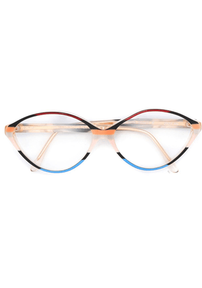 Balenciaga Vintage tricoloured rounded glasses - Multicolour