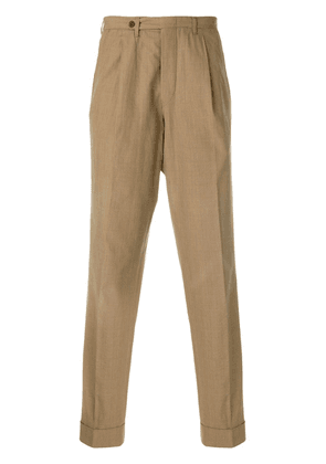 Romeo Gigli Vintage classic straight trousers - Brown