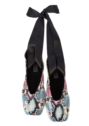 Elisabeth Weinstock python print Russia ballet slippers - Multicolour