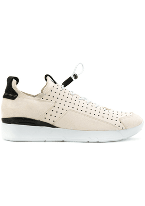 Enso elasticated lace-up sneakers - Neutrals