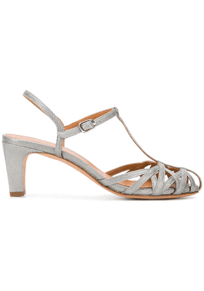 Chie Mihara fish scale strappy sandals - Grey