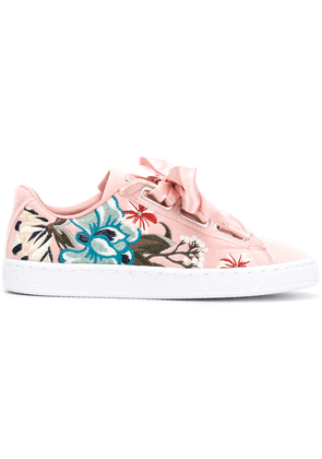 Puma embroidered floral low top sneakers - Pink