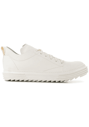 Artselab textured lace-up sneakers - White