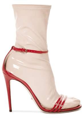 Gucci sandals with removable socks - Red