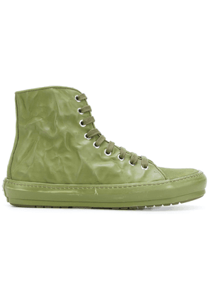 Both crinkle lace-up boot - Green