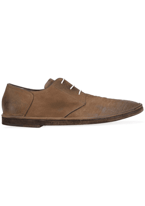 Del Carlo distressed Derby shoes - Brown