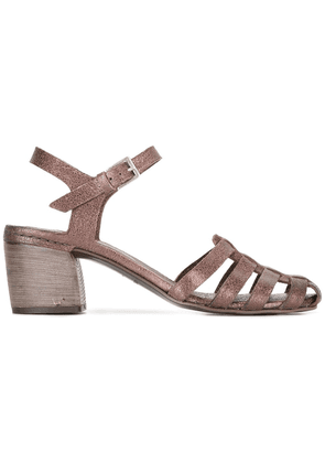 Del Carlo mid block heel sandals - Metallic