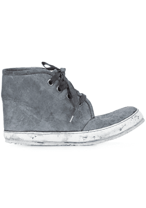 A Diciannoveventitre distressed hi-tops - Grey