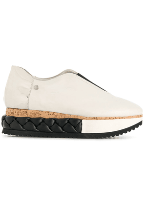 Agl braided platform sneakers - White