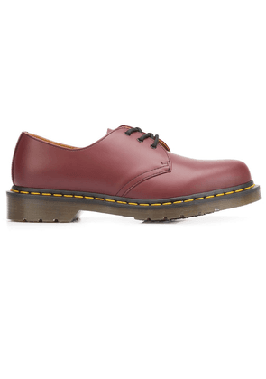 Dr. Martens stitch detailed Derby shoes - Red