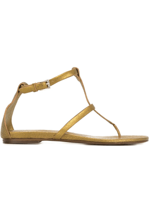 Del Carlo metallic flat sandals