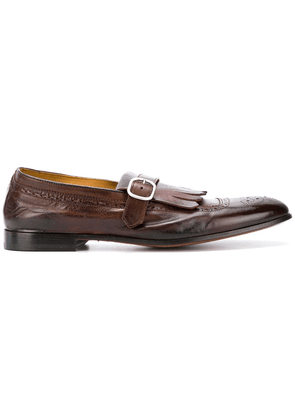 Doucal's fringed monk shoes - Brown