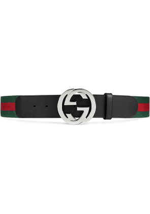 Gucci Web belt with G buckle - Black