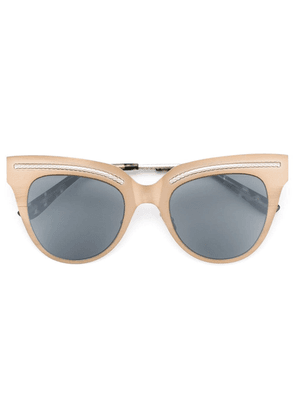 Bottega Veneta Eyewear cat eye frame sunglasses - Metallic