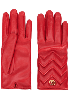 Gucci GG Marmont gloves - Red
