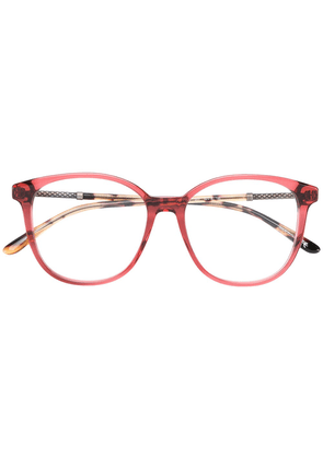 Bottega Veneta Eyewear square frame glasses - Pink