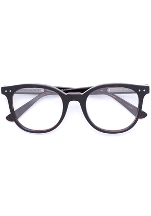 Bottega Veneta Eyewear round frame glasses - Brown