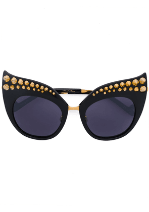 Anna Karin Karlsson Karlsson spike studded sunglasses - Black