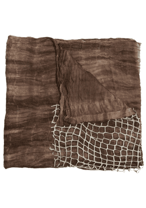 Cutuli Cult 'Eye' scarf - Brown