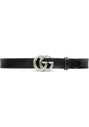 Gucci Leather belt with Double G buckle - Black