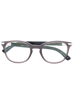 Bulgari oval frame glasses - Grey