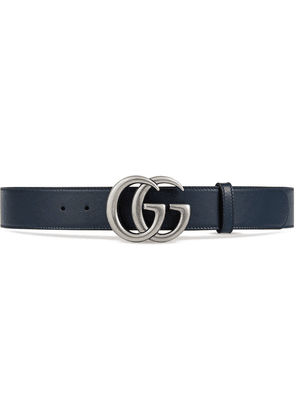 Gucci Leather belt with Double G buckle - Blue