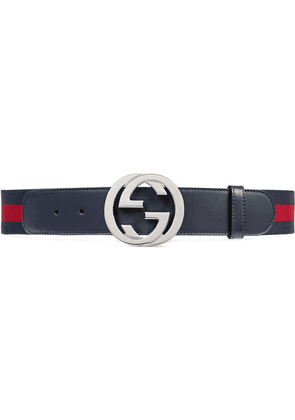 Gucci Web belt with G buckle - Blue