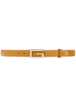 Gucci Suede belt with G buckle - Neutrals