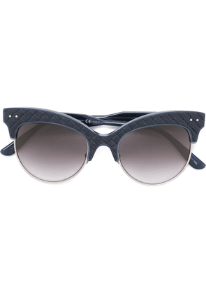 Bottega Veneta Eyewear intrecciato cat eye sunglasses - Blue