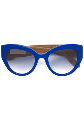 Dolce & Gabbana Eyewear Carretto Siciliano detail sunglasses - Blue