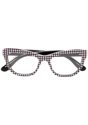Dolce & Gabbana Eyewear cat eye printed glasses - Black