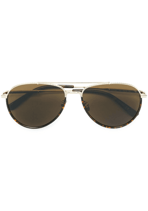 Bottega Veneta Eyewear aviator sunglasses - Metallic
