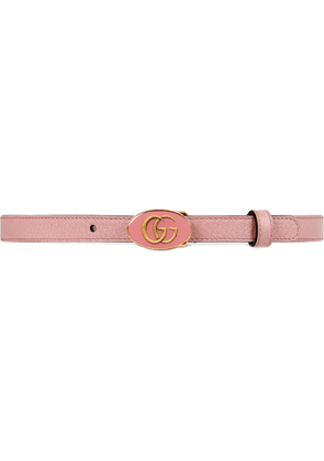 Gucci Leather belt with oval enameled buckle - Pink