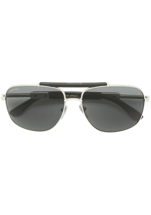 Bulgari square frame sunglasses - Metallic