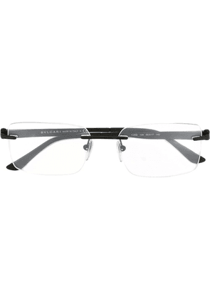 Bulgari rectangular frame glasses - Black