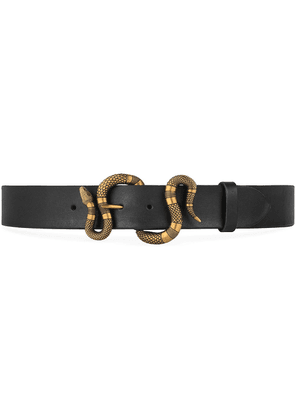 Gucci Leather belt with snake buckle - Black