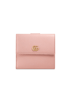 e7ad0a09c96 Gucci Leather french flap wallet - Pink