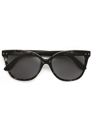 Bottega Veneta Eyewear square frame sunglasses - Black