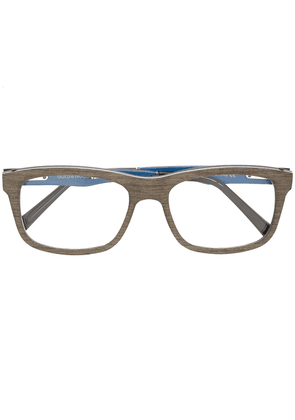 Gold And Wood square shaped glasses - Grey
