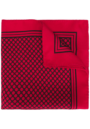 Dolce & Gabbana geometric print pocket square - Red