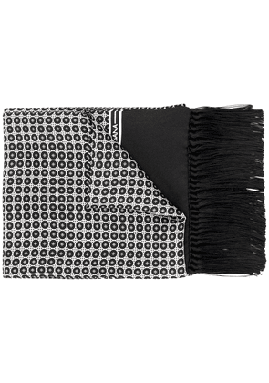 Dolce & Gabbana geometric embroidered scarf - Black