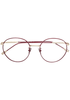 Bottega Veneta Eyewear round frame glasses - Red