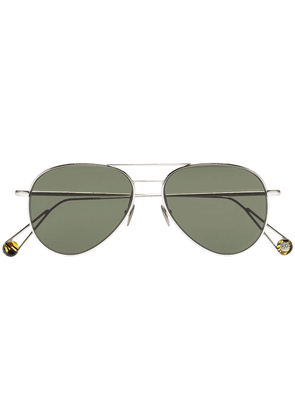 Ahlem 22k gold plated Pantheon aviator sunglasses - Black