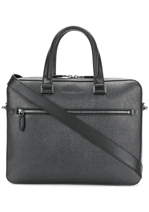 Salvatore Ferragamo textured laptop bag - Grey