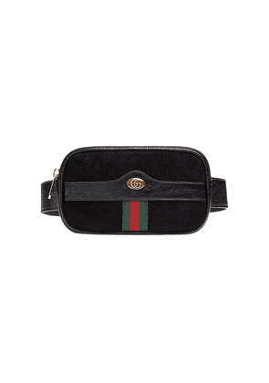 Gucci Ophidia web suede belt bag - Black