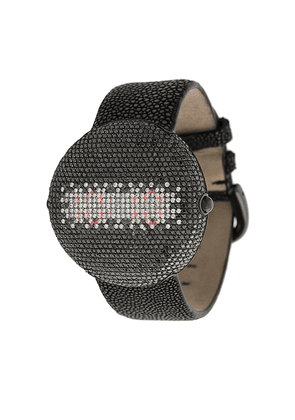 Christian Koban Clou black diamond watch