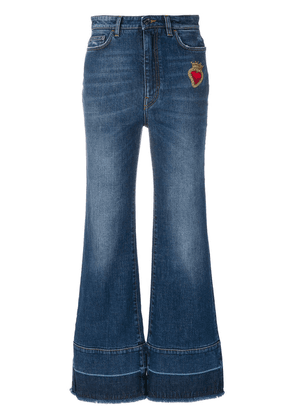 Dolce & Gabbana flared jeans with sacred heart appliqué - Blue